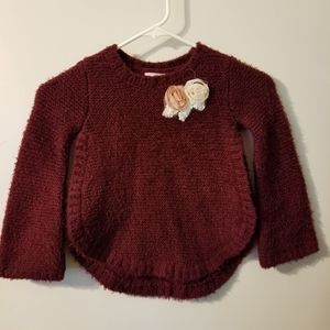 Girls burgundy sweater small